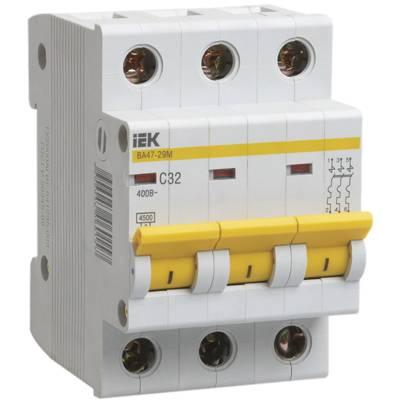 Автоматические выключатели: ВА47-29, ВА47-60, ВА47-100.